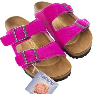 Birkenstock Arizona Pink Cowhide Leather Sandal 38